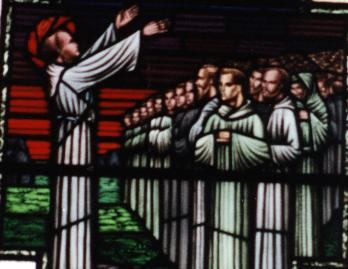 St Finnian teaches the twelve apostles of Ireland